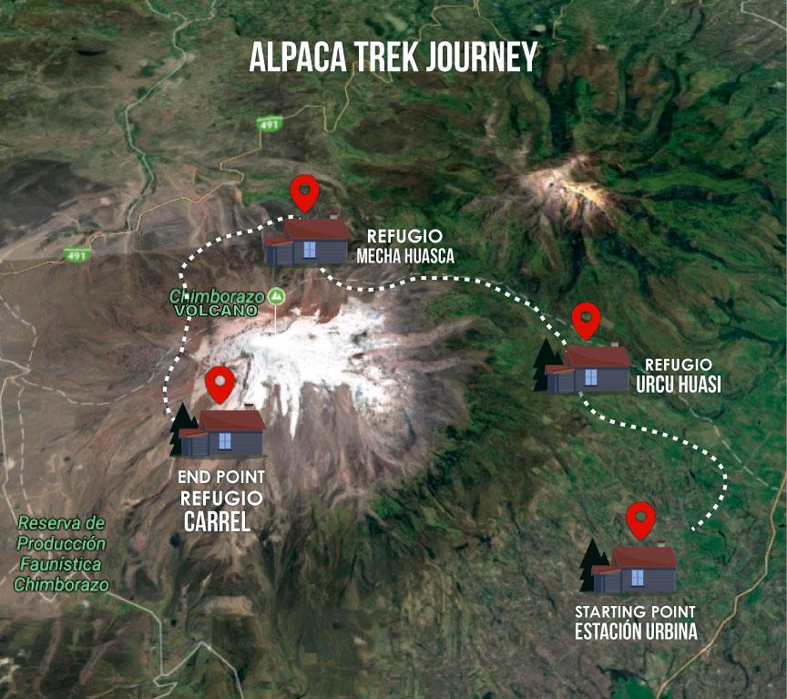 Alpaka Treck, Chimborazo