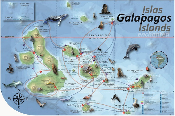 galapagos island map