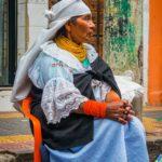 Indigenous woman of otavalo