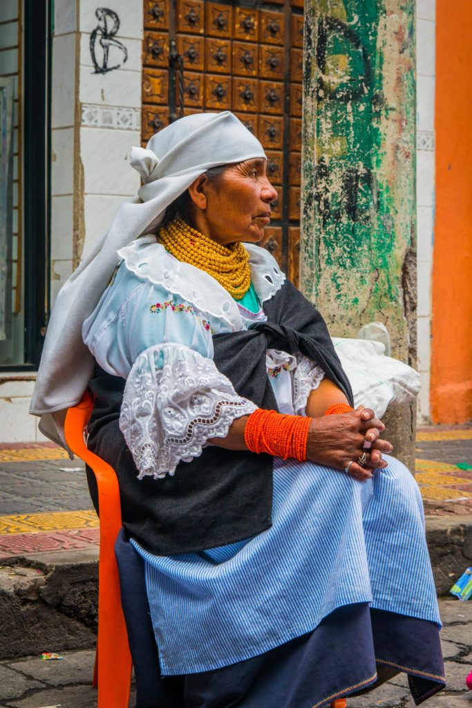 Indigenous woman of otavalo