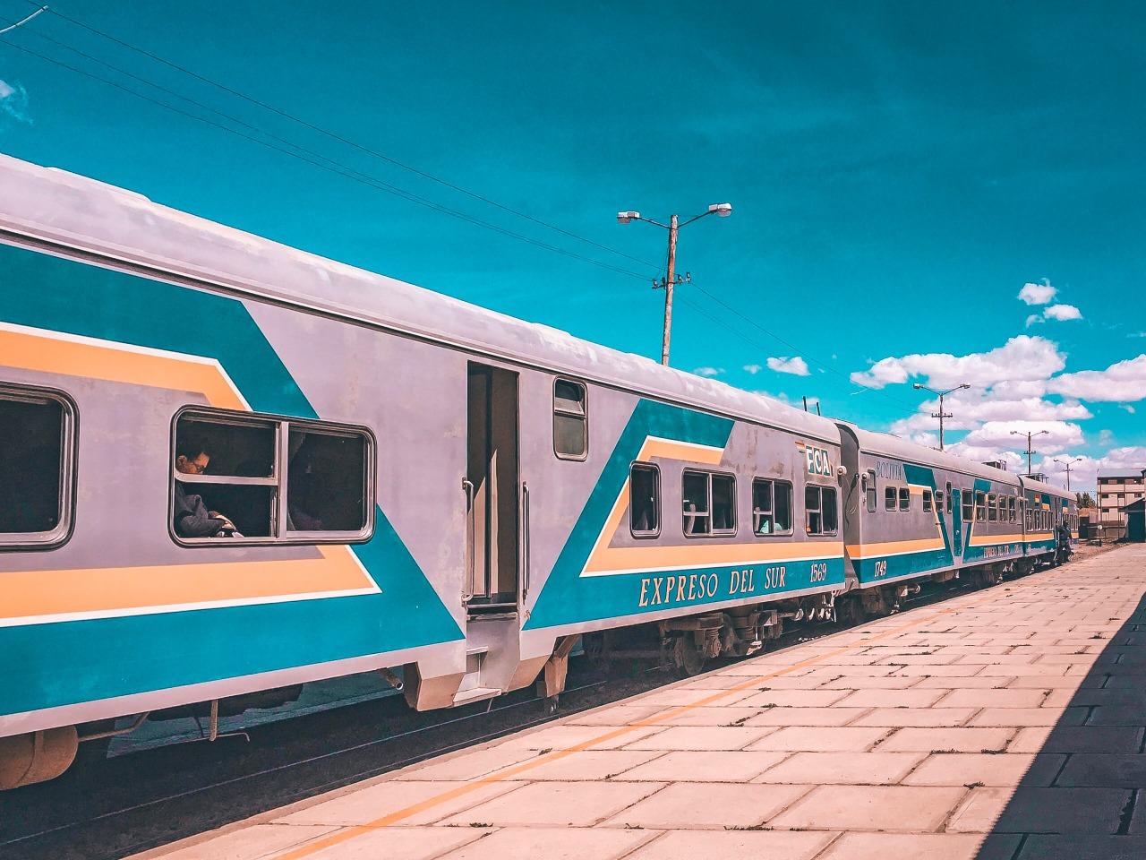 train station in Oruro, Bolivia