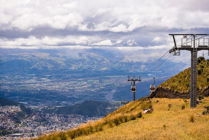 Teleferiqo, the gondola up to Pichincha Volcano, Quito, Pichincha Province, Ecuador, South America