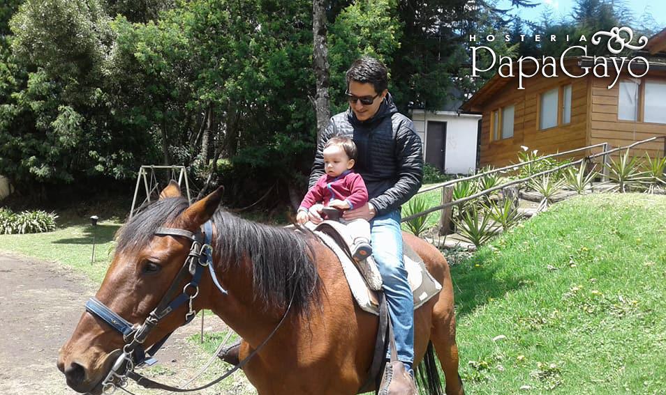 horse riding at hosteria papagayo