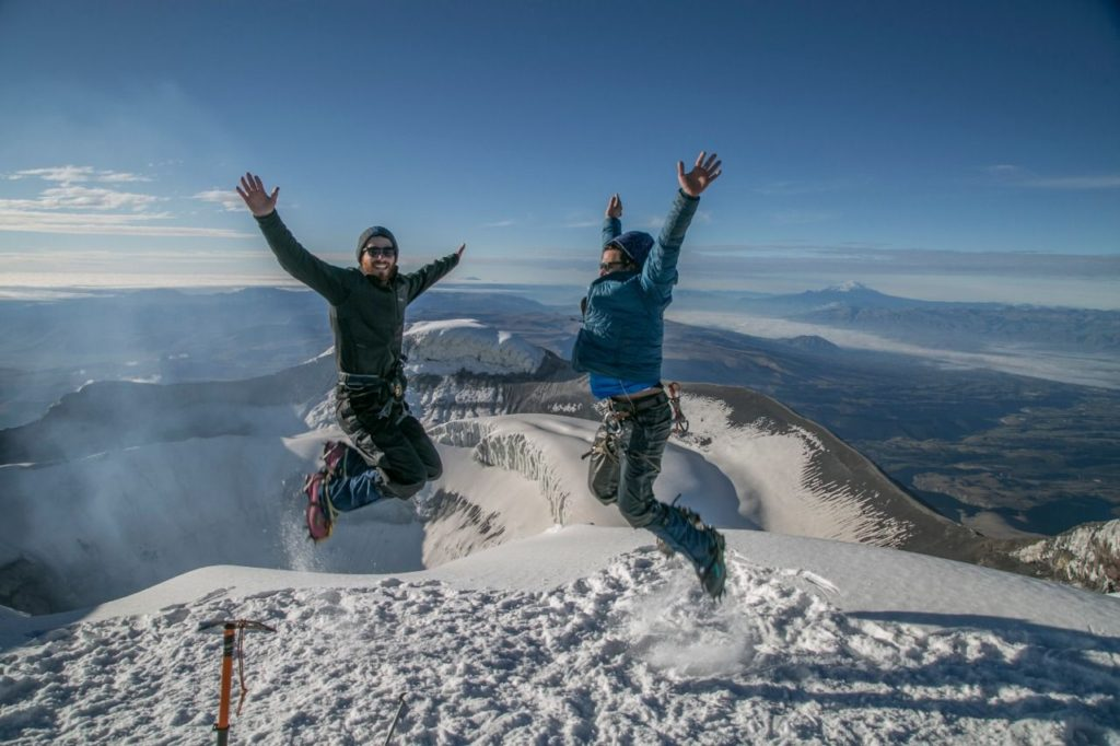 at the top of cotopaxi